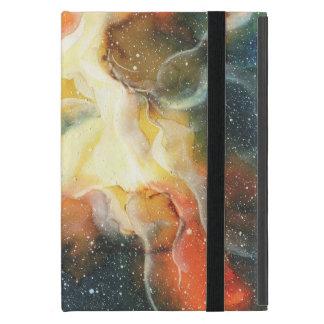 Capa iPad Mini Galáxia da nebulosa do espaço da aguarela