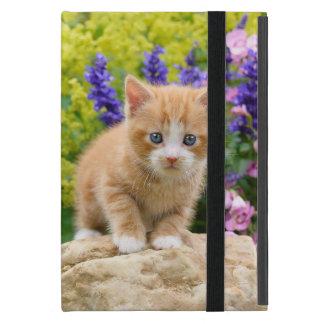 Capa iPad Mini Gatinho macio bonito do gato do gengibre na foto
