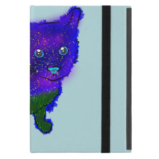 Capa iPad Mini Gato da galáxia que senta o mini caso de Ipad