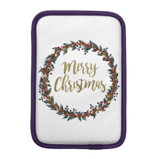 Capa iPad Mini Grinalda da aguarela - Feliz Natal - ramos