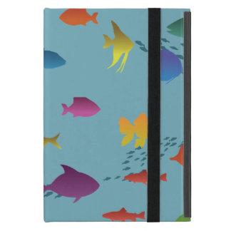 Capa iPad Mini Grupo colorido de peixes subaquáticos