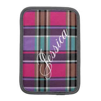 Capa iPad Mini HAMbWG - caixa do computador - xadrez cor-de-rosa