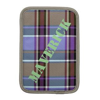 Capa iPad Mini HAMbWG - caixa do computador - xadrez roxa