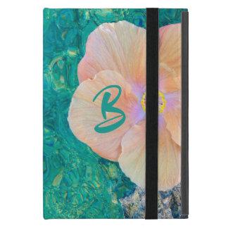 Capa iPad Mini Hibiscus caso do ipad da água de turquesa no mini