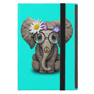 Capa iPad Mini Hippie bonito do elefante do bebê