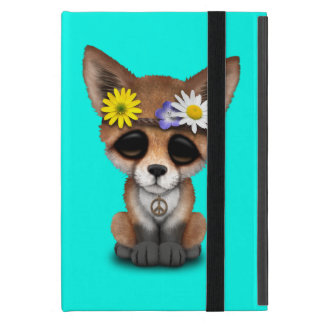Capa iPad Mini Hippie bonito do Fox do bebê