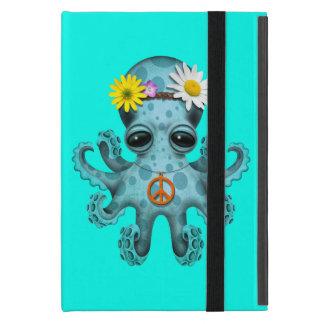 Capa iPad Mini Hippie bonito do polvo do bebê azul