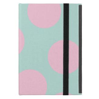 Capa iPad Mini hortelã elegante e grande teste padrão de bolinhas