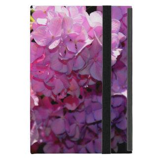 Capa iPad Mini Hydrangea cor-de-rosa romântico