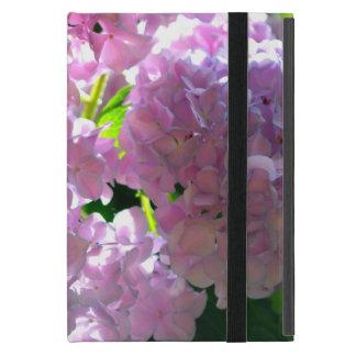 Capa iPad Mini Hydrangeas cor-de-rosa brilhantes