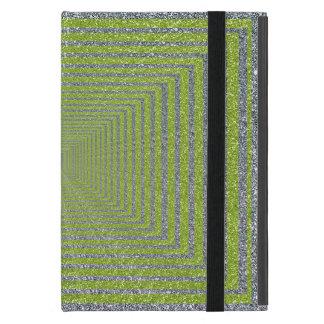 Capa iPad Mini Ilusão óptica da faísca verde e de prata