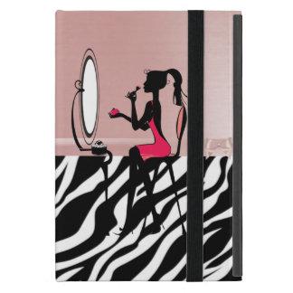 Capa iPad Mini Impressão bonito da zebra, arco da fita, silhueta