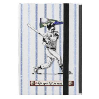 Capa iPad Mini Jogador de beisebol e flâmula