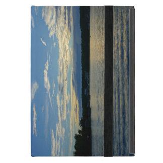Capa iPad Mini Lago do por do sol do azul de Ozarks