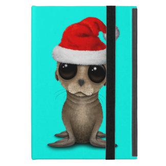 Capa iPad Mini Leão de mar do bebê que veste um chapéu do papai