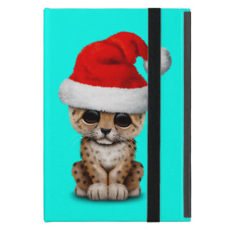 Capa iPad Mini Leopardo bonito Cub que veste um chapéu do papai
