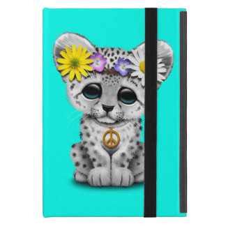 Capa iPad Mini Leopardo de neve bonito Cub do Hippie