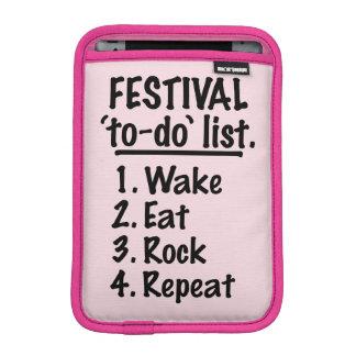 Capa iPad Mini Lista do tumulto do ` do festival' (preto)