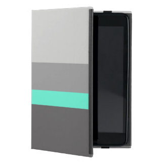 Capa iPad Mini listras claras elegantes do cinza da hortelã