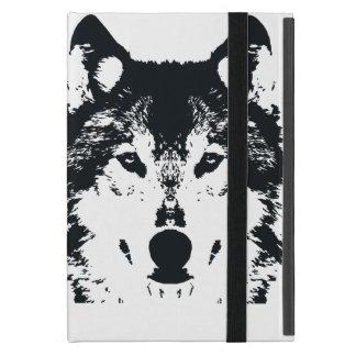 Capa iPad Mini Lobo preto da ilustração