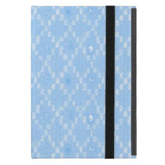 Capa iPad Mini Luz - impressão azul do teste padrão do diamante