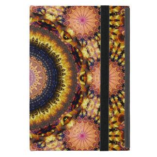Capa iPad Mini Mandala dourada da explosão da estrela