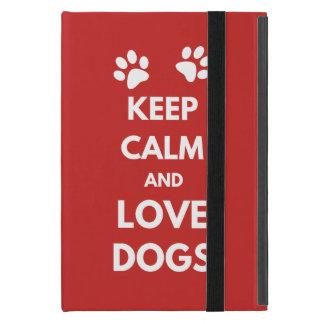 Capa iPad Mini Mantenha a calma e ame cães