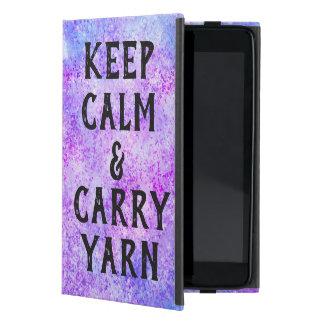 Capa iPad Mini Mantenha roxo calmo e do carregar do fio