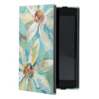 Capa iPad Mini Margaridas brancas no azul