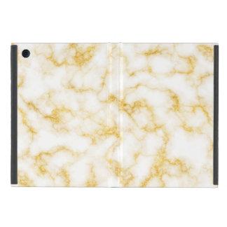 Capa iPad Mini Mármore elegante - branco do ouro