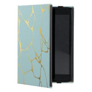 Capa iPad Mini mármore, hortelã, ouro, moderno, na moda, bonito,