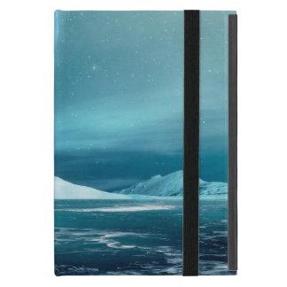 Capa iPad Mini Mini caso do iPad ártico da noite do inverno,
