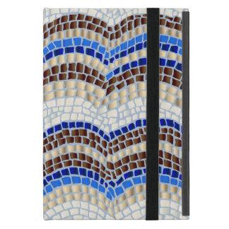 Capa iPad Mini Mini caso do iPad azul do mosaico sem Kickstand