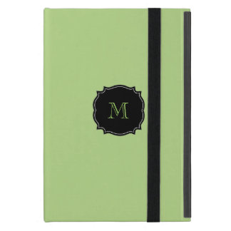 Capa iPad Mini Mini caso do iPad verde do monograma