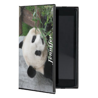 Capa iPad Mini mini caso in-folio do iPad, panda, preta