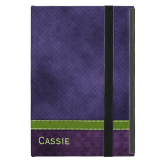 Capa iPad Mini Mini caso in-folio do iPad roxo bonito