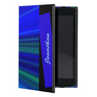 Capa iPad Mini mini caso in-folio do iPad, Starburst, azul