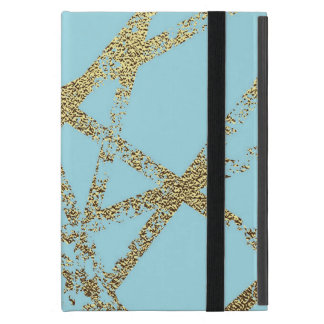 Capa iPad Mini Moderno, abstrato, pintado mão, o ouro alinha a