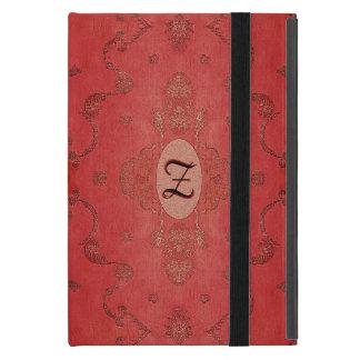 Capa iPad Mini Monograma de seda bordado vintage