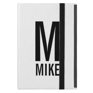 Capa iPad Mini Monograma e nome personalizados modernos