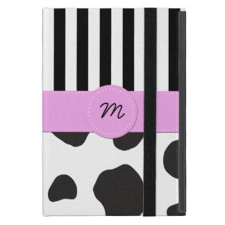 Capa iPad Mini Monograma - impressão animal, pontos da vaca -