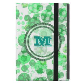Capa iPad Mini Monograma verde afligido bolinhas