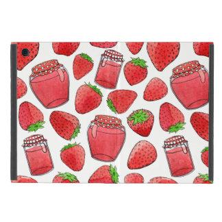 Capa iPad Mini Morangos & doces coloridos da aguarela