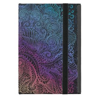 Capa iPad Mini Noite do norte do arco-íris