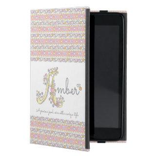 Capa iPad Mini Nome ambarino das meninas A e significado da caixa