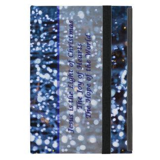 Capa iPad Mini O abstrato do azul ilumina o texto
