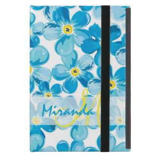 Capa iPad Mini O azul vibrante da aguarela esquece-me não nome