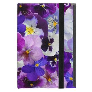 Capa iPad Mini O primavera bonito dos Pansies floresce, mini caso