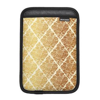 Capa iPad Mini O vintage, ouro, damasco, floral, teste padrão,