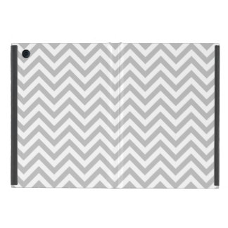 Capa iPad Mini O ziguezague cinzento e branco listra o teste